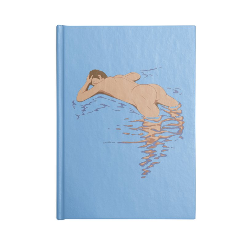 Man on water Accessories Notebook by Dror Miler's Artist Shop