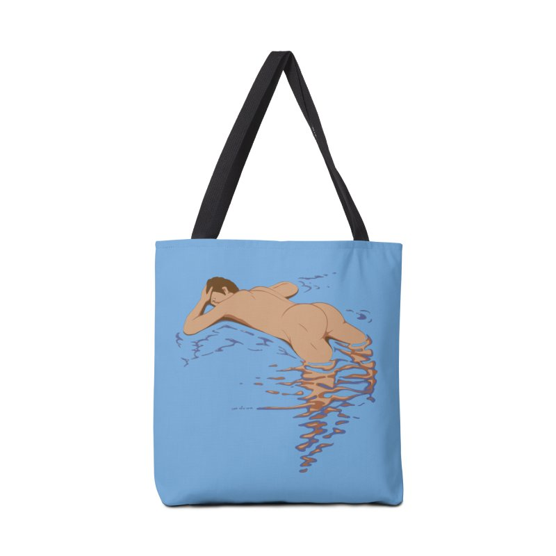 Man on water Accessories Bag by Dror Miler's Artist Shop