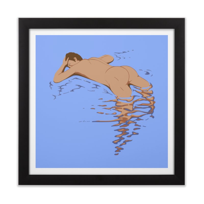Man on water Home Framed Fine Art Print by Dror Miler's Artist Shop