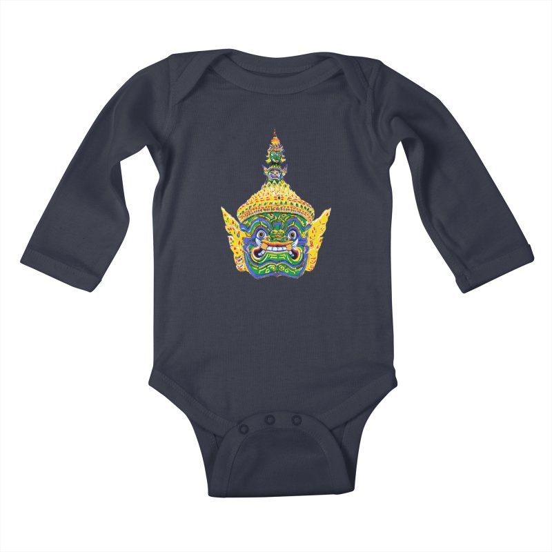 Ravana Kids Baby Longsleeve Bodysuit by Dror Miler's Artist Shop