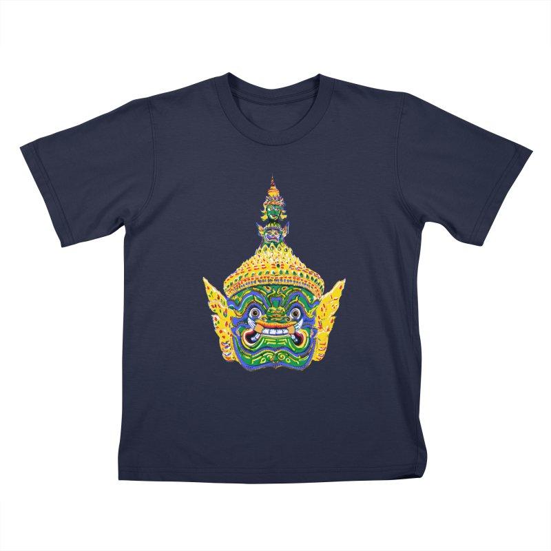 Ravana Kids T-Shirt by Dror Miler's Artist Shop