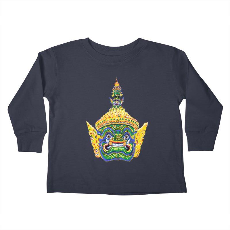 Ravana Kids Toddler Longsleeve T-Shirt by Dror Miler's Artist Shop