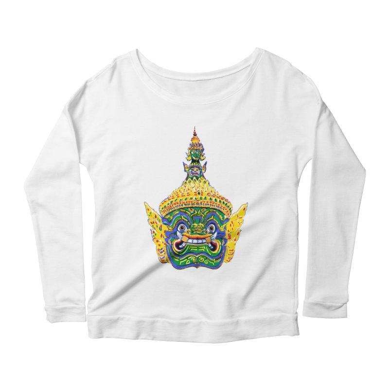 Ravana Women's Scoop Neck Longsleeve T-Shirt by Dror Miler's Artist Shop