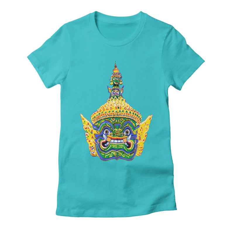 Ravana Women's Fitted T-Shirt by Dror Miler's Artist Shop