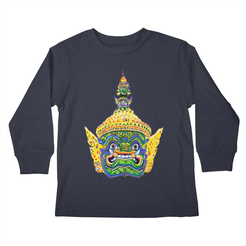 Ravana Kids Longsleeve T-Shirt by Dror Miler's Artist Shop