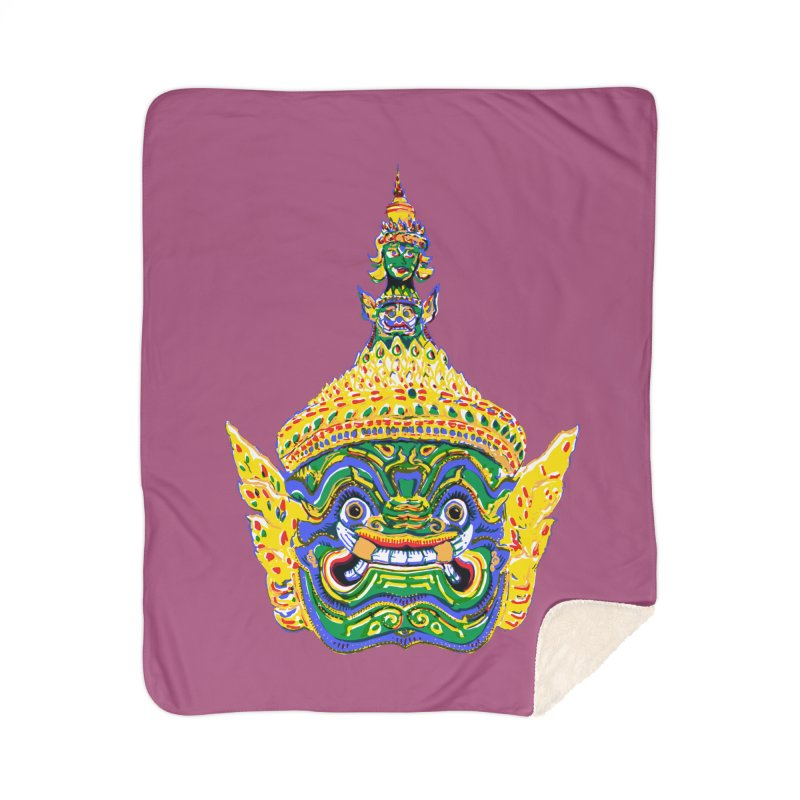 Ravana Home Blanket by Dror Miler's Artist Shop