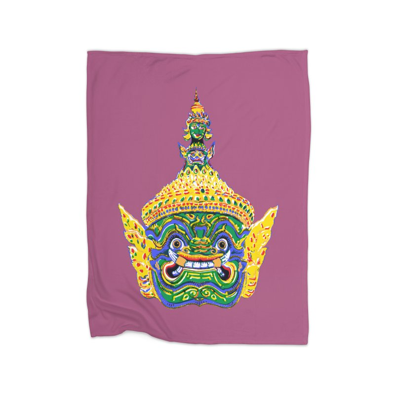 Ravana Home Blanket by Dror Miler's Artist Shop