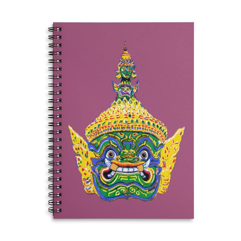 Ravana Accessories Lined Spiral Notebook by Dror Miler's Artist Shop