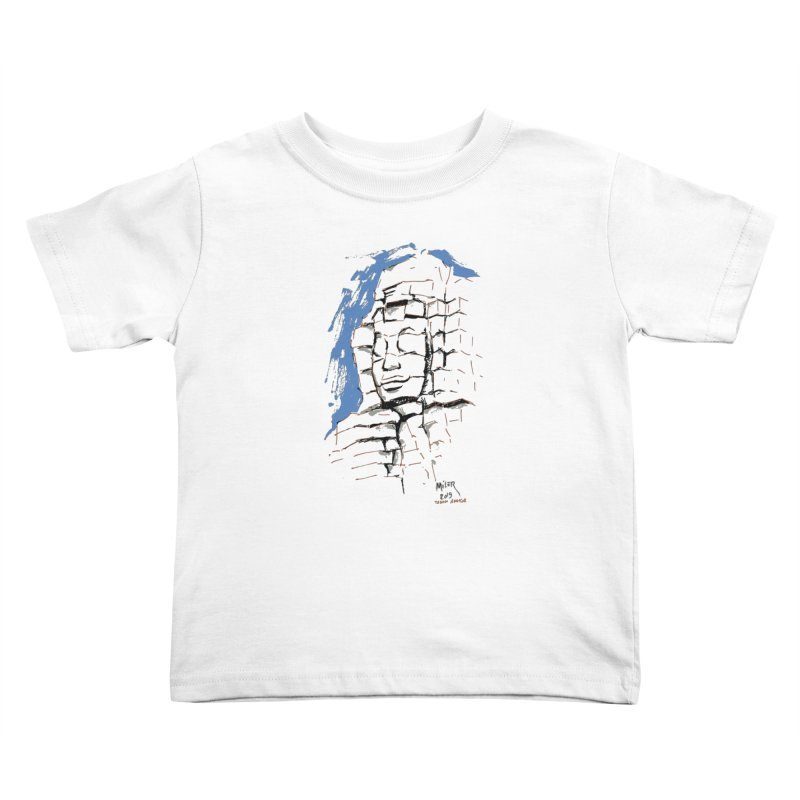 Ta Som Temple stone face (Angkor) Sketch Kids Toddler T-Shirt by Dror Miler's Artist Shop