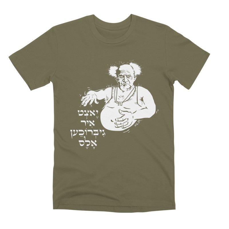 Ben Gurion -  Now you've ruined everything Men's Premium T-Shirt by Dror Miler's Artist Shop