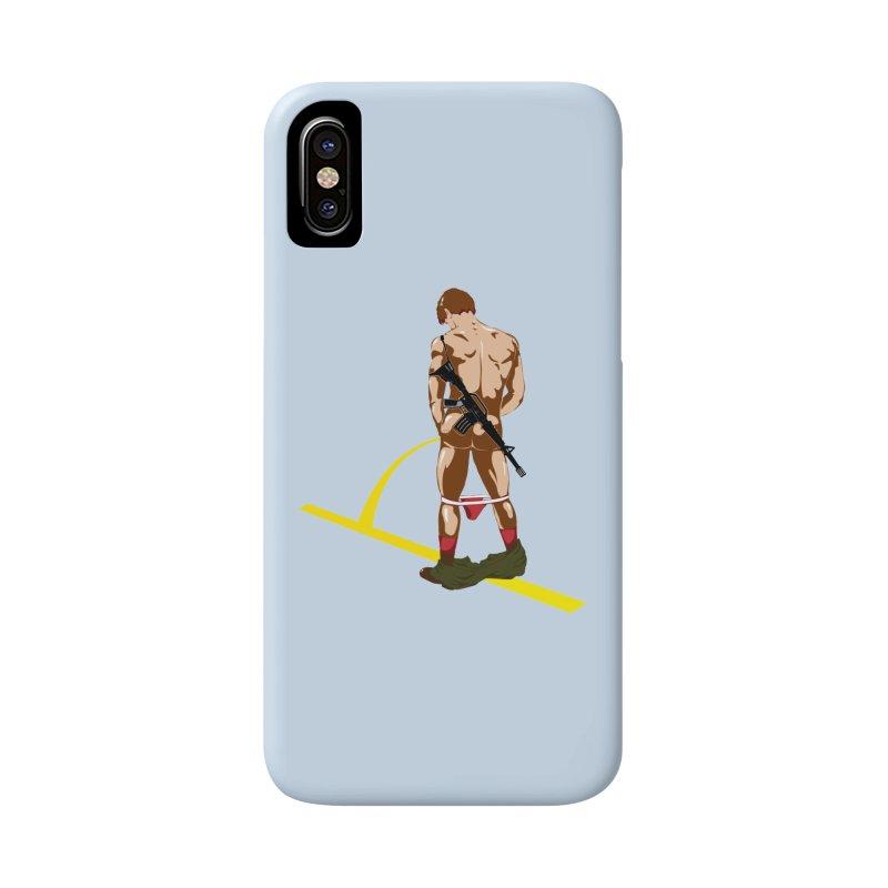 Pissing Soldier Accessories Phone Case by Dror Miler's Artist Shop