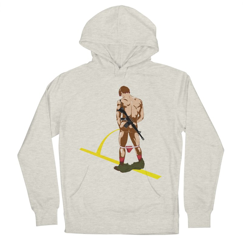 Pissing Soldier Men's Pullover Hoody by Dror Miler's Artist Shop
