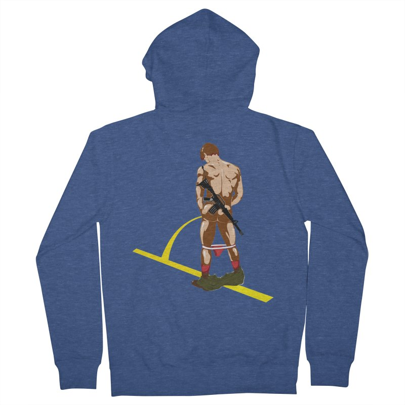Pissing Soldier Men's Zip-Up Hoody by Dror Miler's Artist Shop