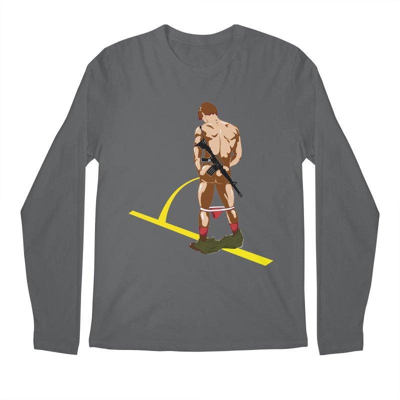 Pissing Soldier Men's Longsleeve T-Shirt by Dror Miler's Artist Shop