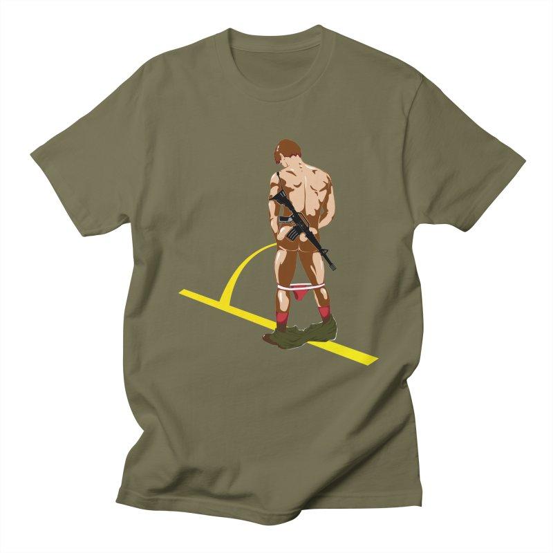 Pissing Soldier Women's Unisex T-Shirt by Dror Miler's Artist Shop