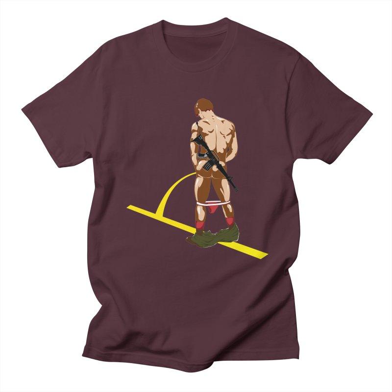 Pissing Soldier Men's T-shirt by Dror Miler's Artist Shop