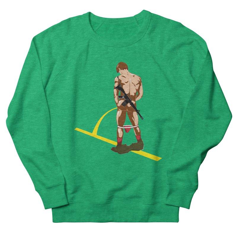 Pissing Soldier Men's Sweatshirt by Dror Miler's Artist Shop
