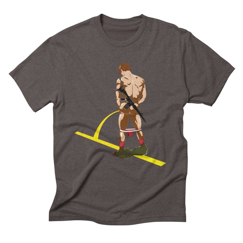 Pissing Soldier Men's Triblend T-Shirt by Dror Miler's Artist Shop