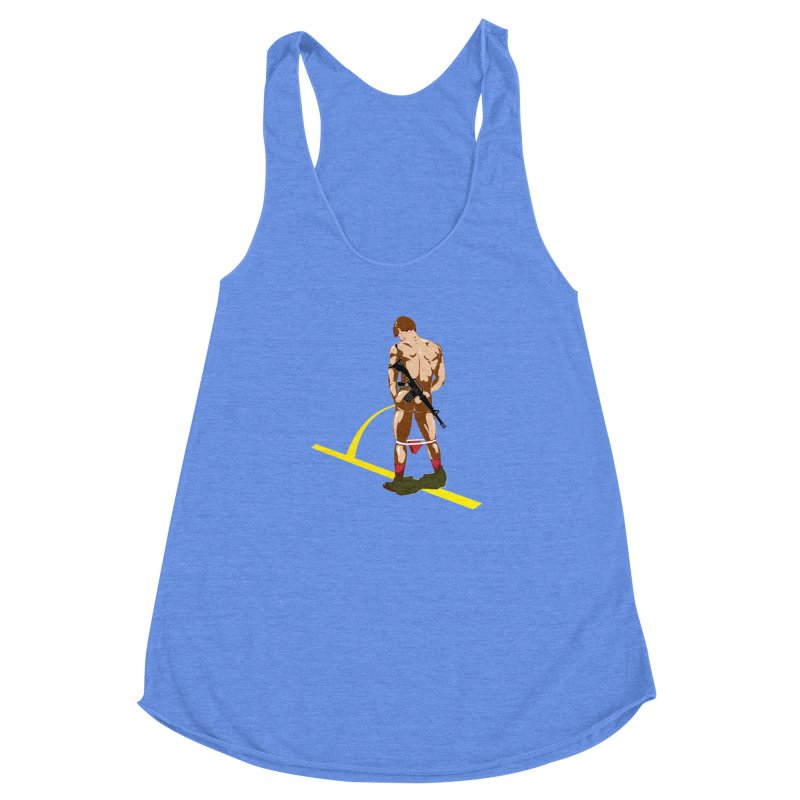 Pissing Soldier Women's Racerback Triblend Tank by Dror Miler's Artist Shop