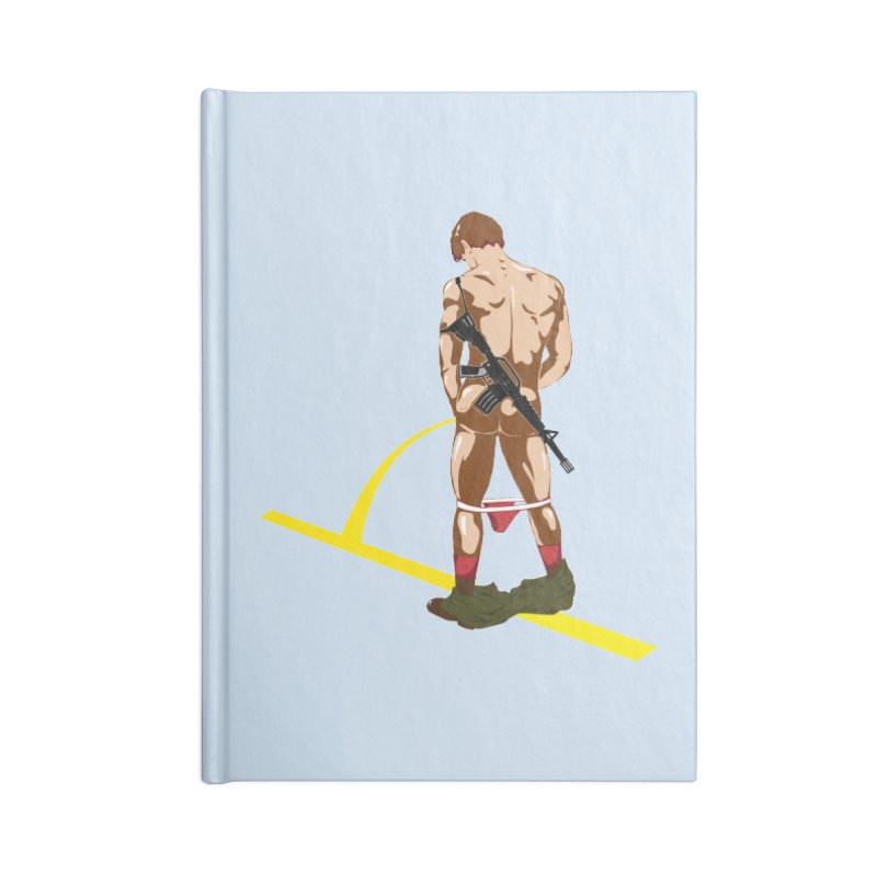Pissing Soldier Accessories Notebook by Dror Miler's Artist Shop