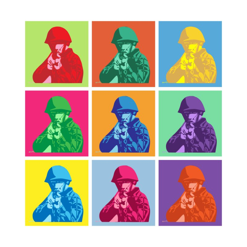 Nine Colored shoulder Targets by Dror Miler's Artist Shop