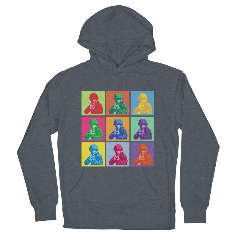 Nine Colored shoulder Targets Men's Pullover Hoody by Dror Miler's Artist Shop