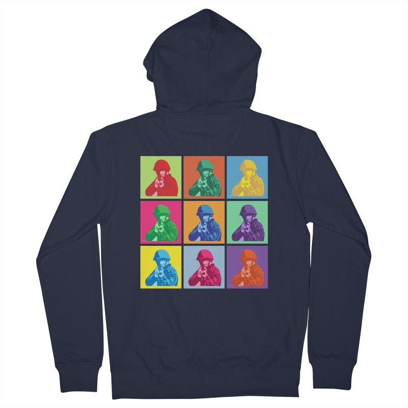 Nine Colored shoulder Targets Women's Zip-Up Hoody by Dror Miler's Artist Shop