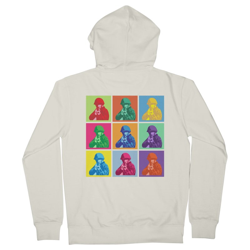 Nine Colored shoulder Targets Men's Zip-Up Hoody by Dror Miler's Artist Shop