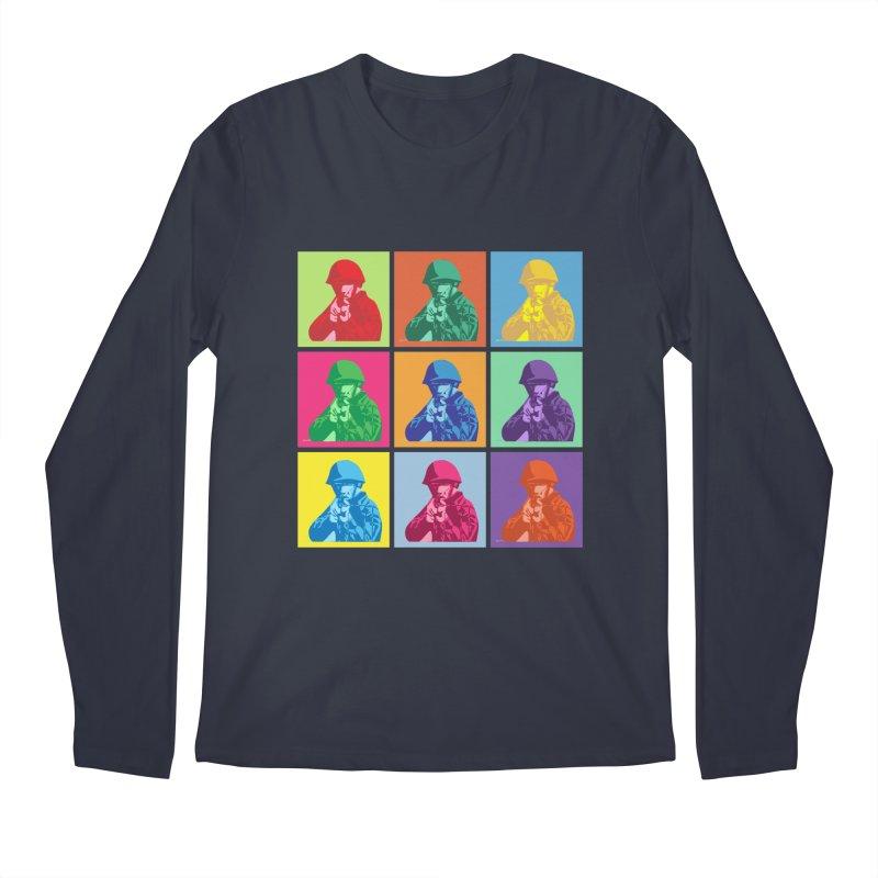 Nine Colored shoulder Targets Men's Longsleeve T-Shirt by Dror Miler's Artist Shop