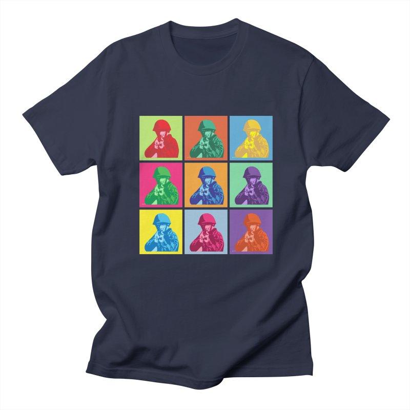 Nine Colored shoulder Targets Men's T-shirt by Dror Miler's Artist Shop