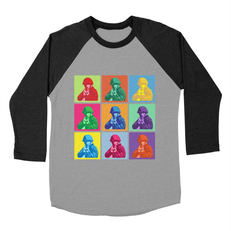 Nine Colored shoulder Targets Women's Baseball Triblend T-Shirt by Dror Miler's Artist Shop