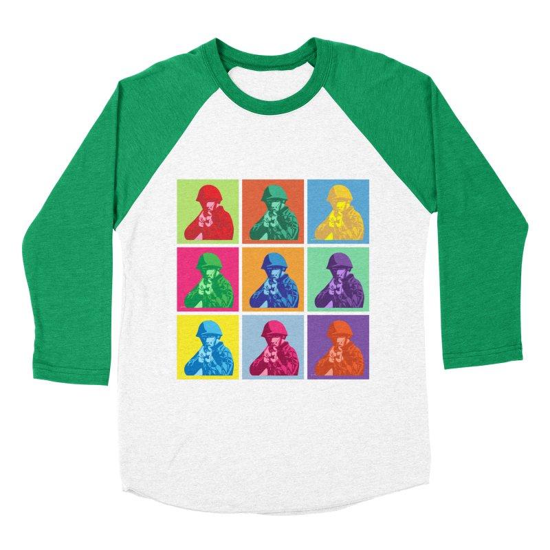 Nine Colored shoulder Targets Men's Baseball Triblend T-Shirt by Dror Miler's Artist Shop