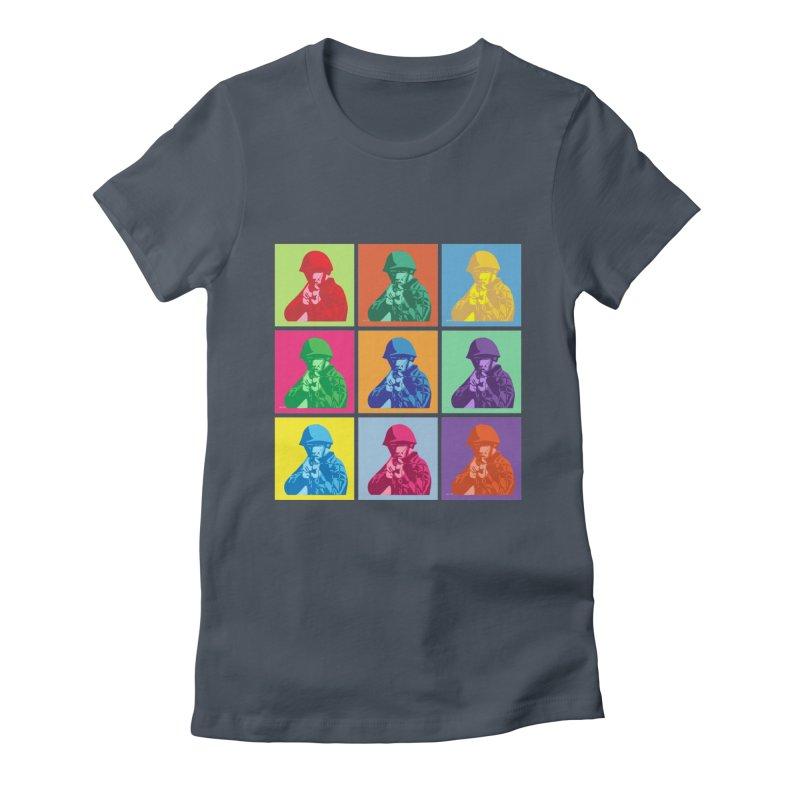 Nine Colored shoulder Targets Women's T-Shirt by Dror Miler's Artist Shop