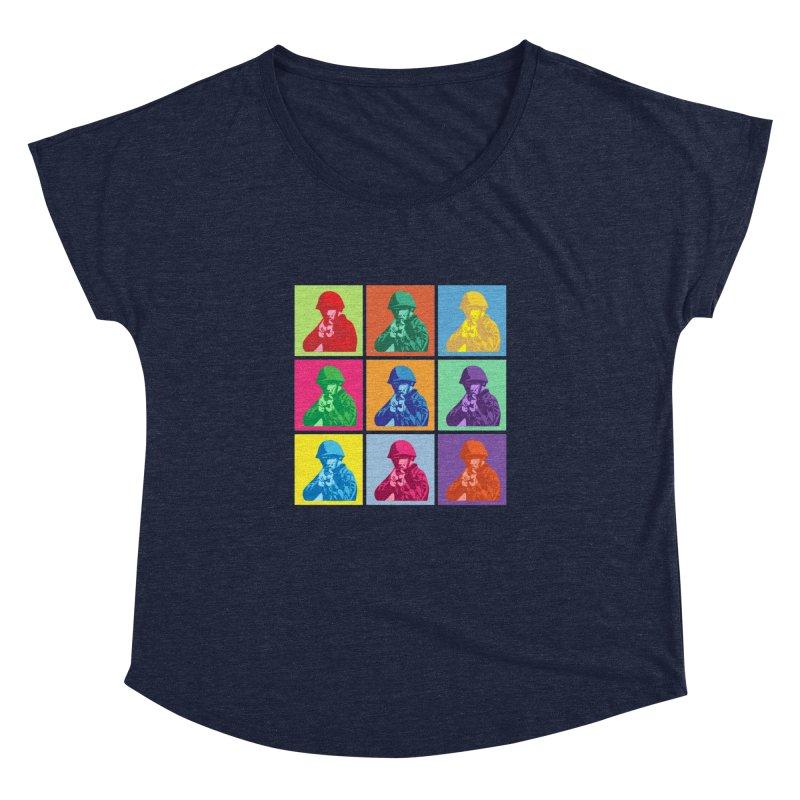 Nine Colored shoulder Targets Women's Dolman by Dror Miler's Artist Shop