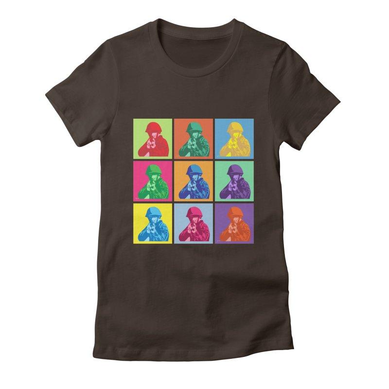Nine Colored shoulder Targets Women's Fitted T-Shirt by Dror Miler's Artist Shop