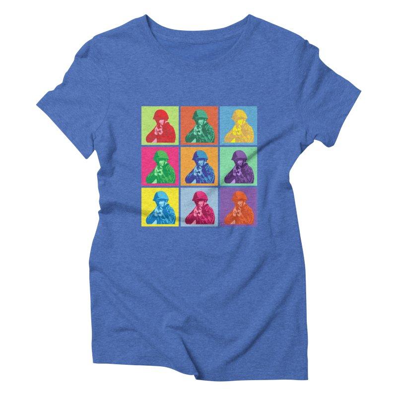 Nine Colored shoulder Targets Women's Triblend T-shirt by Dror Miler's Artist Shop