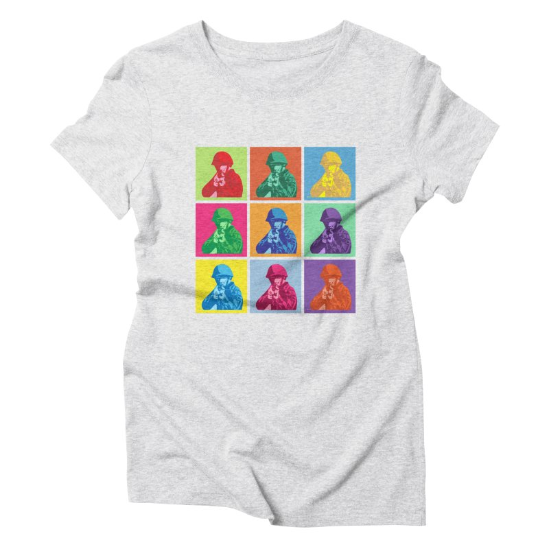 Nine Colored shoulder Targets Women's Triblend T-Shirt by Dror Miler's Artist Shop