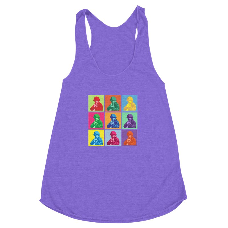 Nine Colored shoulder Targets Women's Racerback Triblend Tank by Dror Miler's Artist Shop