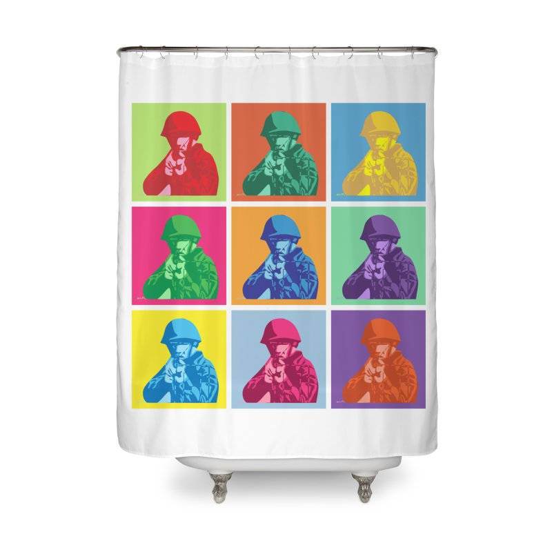 Nine Colored shoulder Targets Home Shower Curtain by Dror Miler's Artist Shop