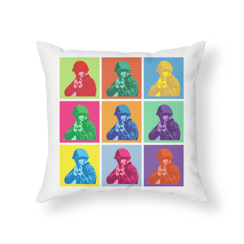 Nine Colored shoulder Targets Home Throw Pillow by Dror Miler's Artist Shop