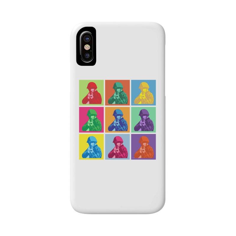 Nine Colored shoulder Targets Accessories Phone Case by Dror Miler's Artist Shop