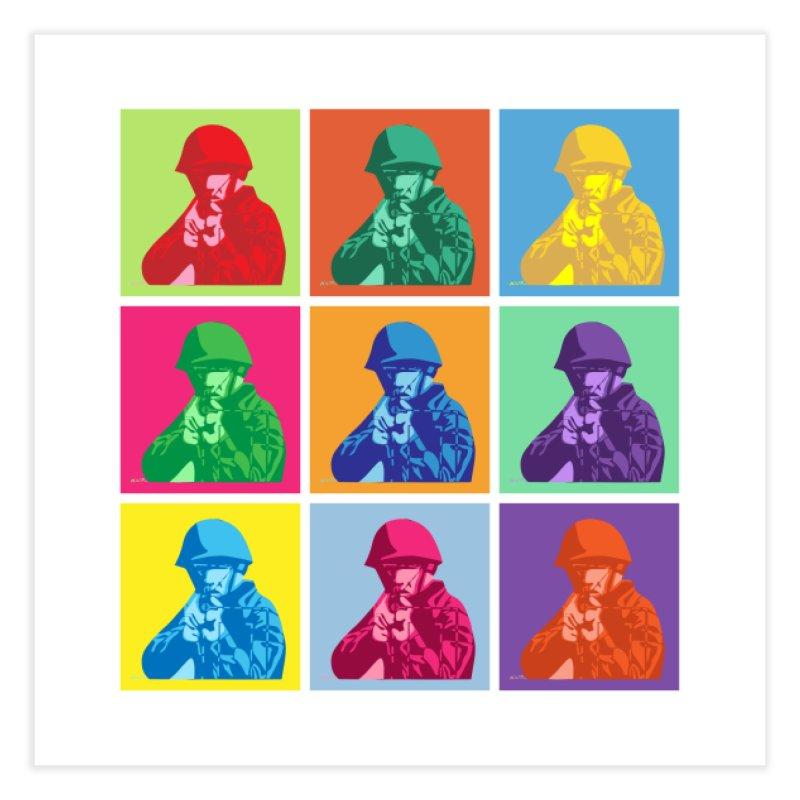 Nine Colored shoulder Targets Home Fine Art Print by Dror Miler's Artist Shop