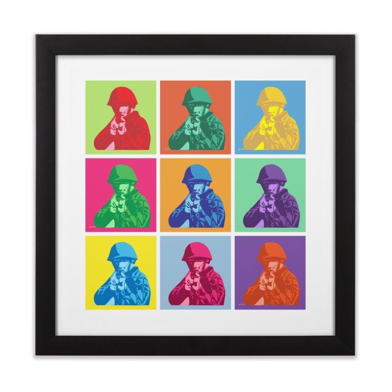 Nine Colored shoulder Targets Home Framed Fine Art Print by Dror Miler's Artist Shop