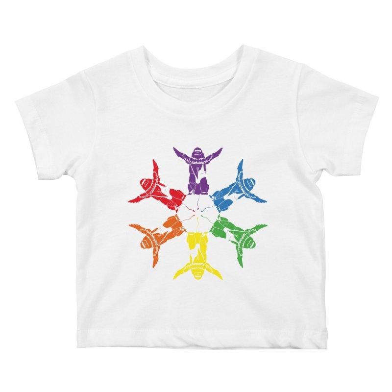 Pride lion (Tel hai roaring lion) Kids Baby T-Shirt by Dror Miler's Artist Shop