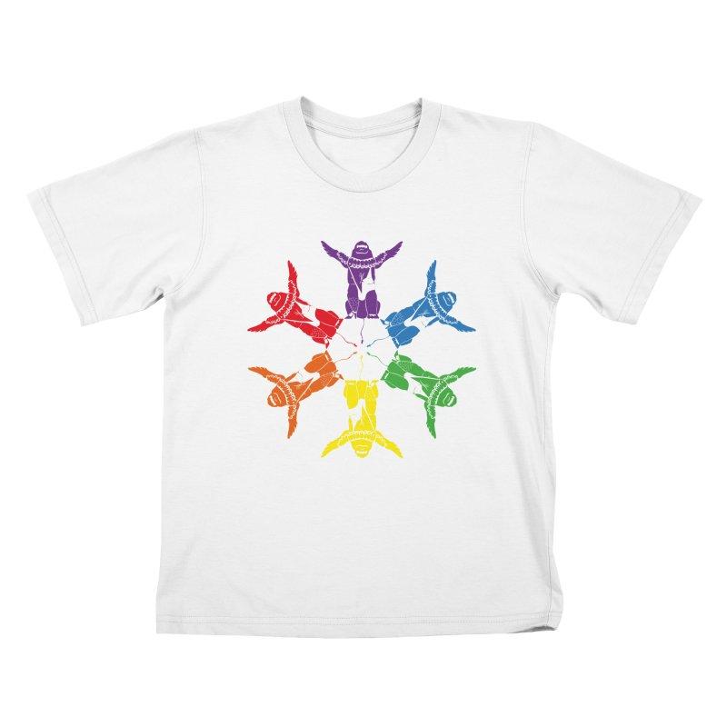 Pride lion (Tel hai roaring lion) Kids T-Shirt by Dror Miler's Artist Shop