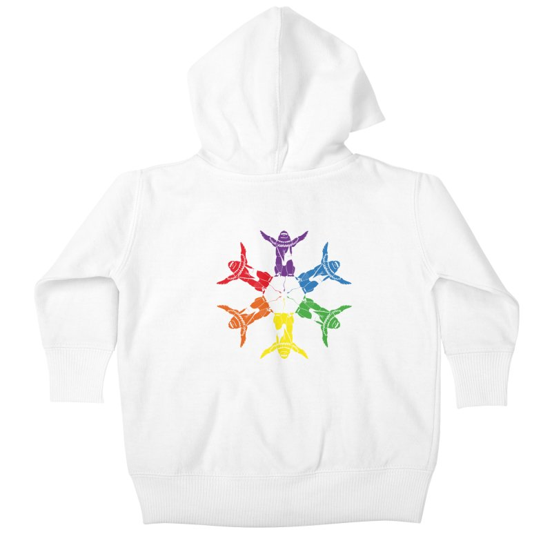 Pride lion (Tel hai roaring lion) Kids Baby Zip-Up Hoody by Dror Miler's Artist Shop