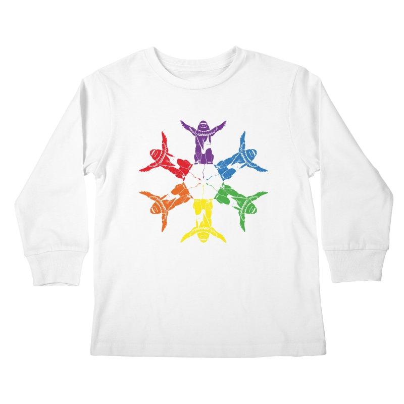 Pride lion (Tel hai roaring lion) Kids Longsleeve T-Shirt by Dror Miler's Artist Shop