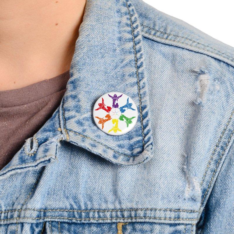 Pride lion (Tel hai roaring lion) Accessories Button by Dror Miler's Artist Shop