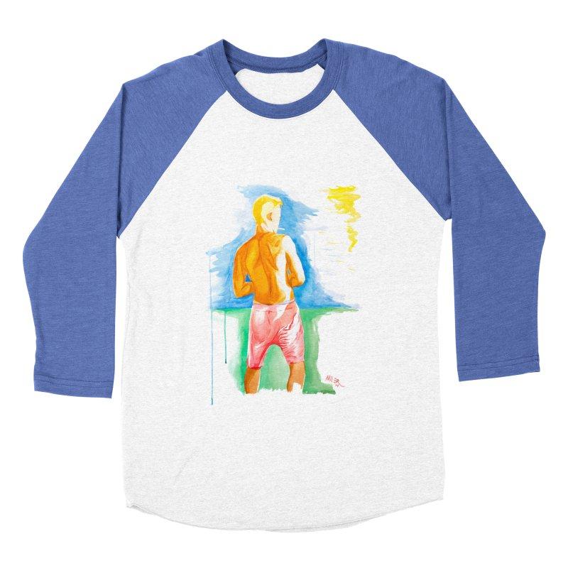 SMOKING GUY IN THE PARK Men's Baseball Triblend T-Shirt by Dror Miler's Artist Shop