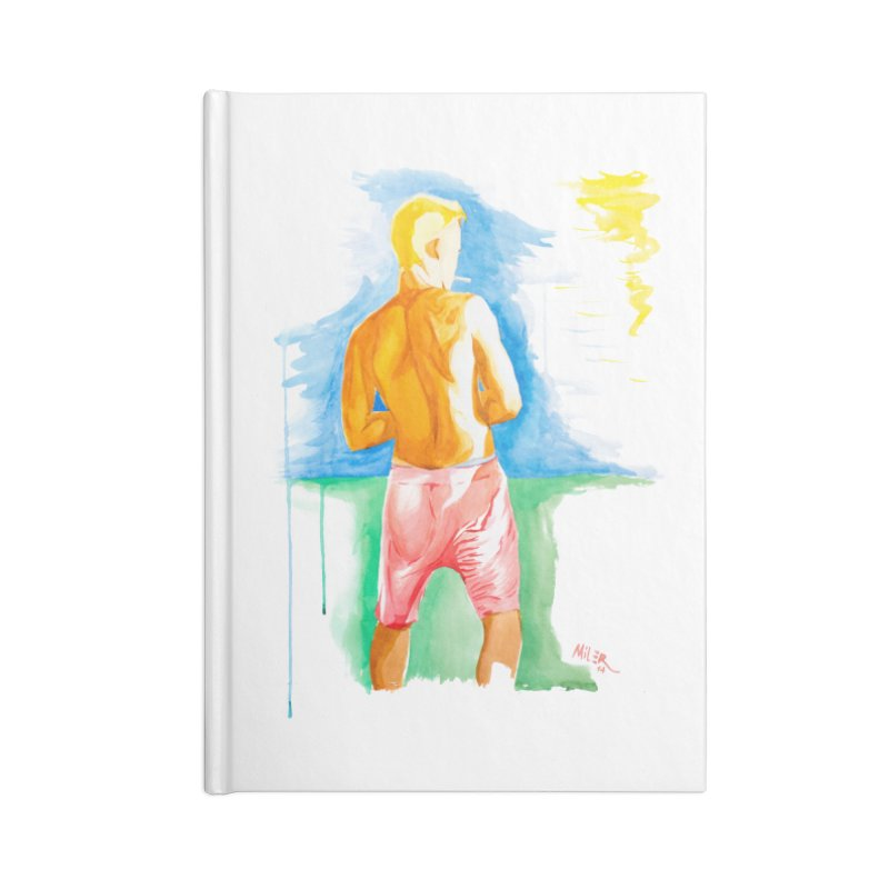SMOKING GUY IN THE PARK Accessories Notebook by Dror Miler's Artist Shop